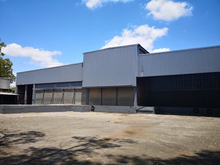 Warehouse with loading bays